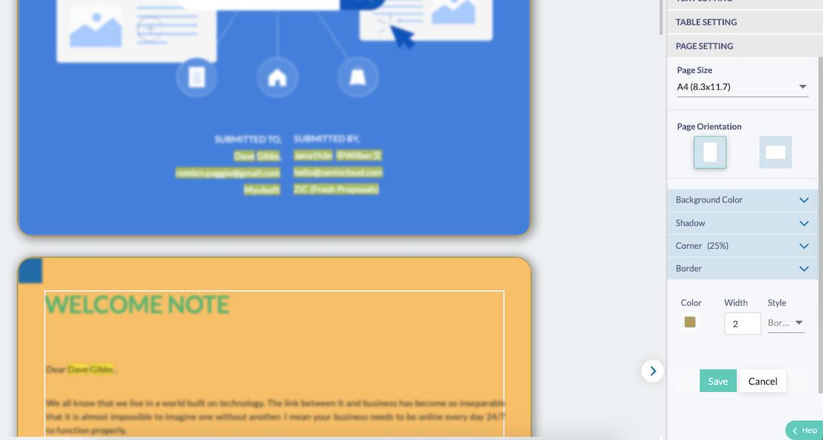 Fresh Proposals Software Update – April 2021 : Proposal Page Design