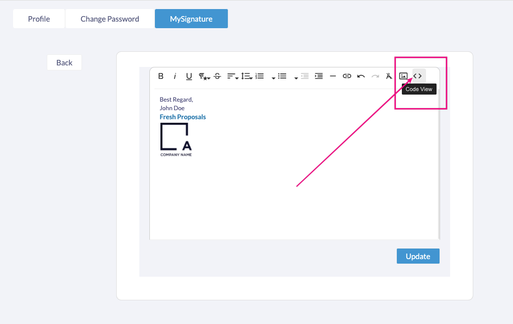 Fresh Proposals Software Update - January 2021 : HTML Email Signature