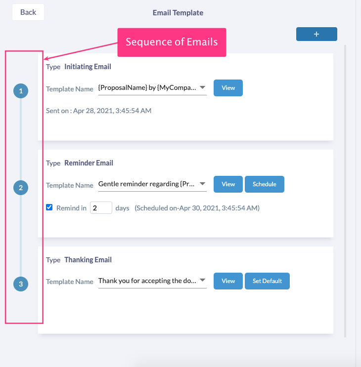 Fresh Proposals Software Update – April 2021 : Proposal Email Sequence