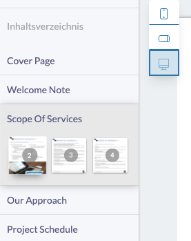 Horizontally Aligned Page Thumbnail - Fresh Proposals Software Update - February 2021